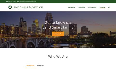 Screenshot of About Page lendsmartmortgage.com - About Lend Smart Mortgage - Lend Smart Mortgage - captured Jan. 28, 2016