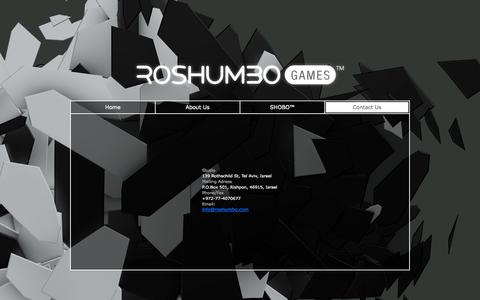 Screenshot of Contact Page roshumbo.com captured Oct. 7, 2014