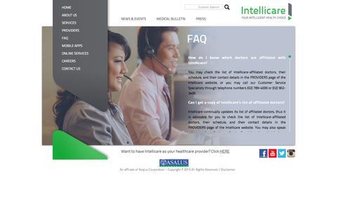 Screenshot of FAQ Page intellicare.com.ph - Intellicare - Your Intelligent Health Choice - captured Oct. 4, 2017