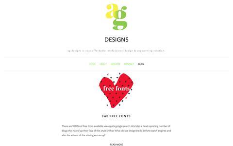 Screenshot of Blog amygaitan.com - Blog — ag designs - captured Oct. 6, 2017