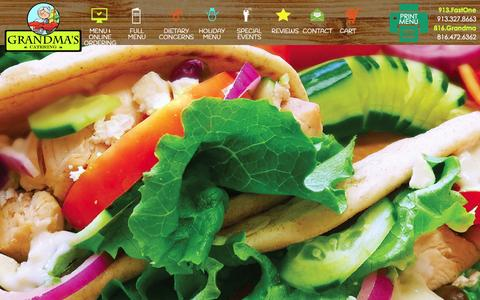 Screenshot of Home Page grandmascatering.com - Home - Grandma's Office Catering - captured Jan. 21, 2015