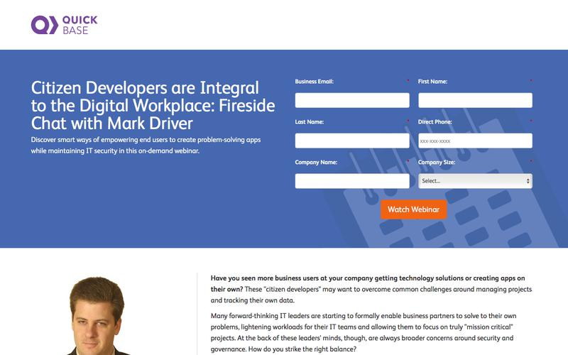 Citizen Developers are Integral to the Digital Workplace Webinar   QuickBase