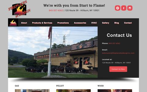 Screenshot of Home Page fireplacesbydesigninc.com - Fireplaces By Design Inc. - We're with you from Start to Flame! - captured Jan. 8, 2016