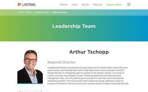 Arthur Tschopp | Leadership Team | Listrak