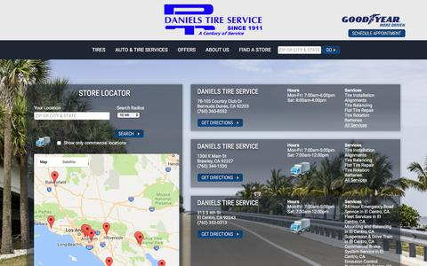 Screenshot of Maps & Directions Page danielstireservice.com - Contact Daniels Tire Service | Tires & Auto Repair Shop in CA - captured June 3, 2017