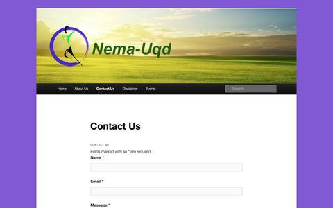 Screenshot of Contact Page nema-uqd.info - Contact Us - Nema-uqdNema-uqd - captured Oct. 20, 2017