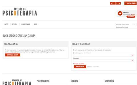 Screenshot of Login Page revistadepsicoterapia.com - Acceso del cliente - captured Sept. 20, 2018