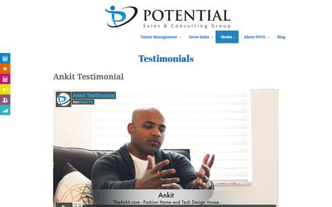 Potential Sales and Consulting Group Testimonials