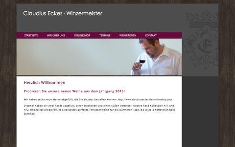 Screenshot of Home Page claudiuseckes.de - Claudius Eckes Winzermeister - captured June 11, 2016