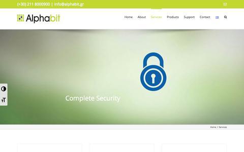 Screenshot of Services Page alphabit.gr - Services - Alphabit - captured Oct. 8, 2017