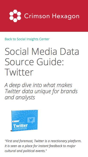Social Media Data Guide: Twitter