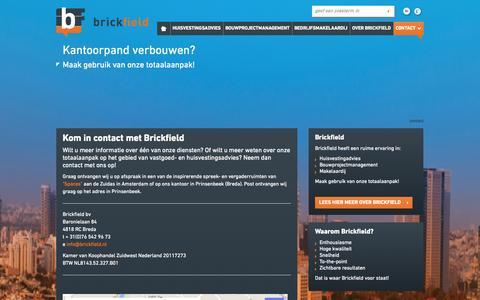 Screenshot of Contact Page brickfield.nl - Kom in contact met vastgoedadviseur Brickfield » Brickfield - captured Oct. 5, 2014