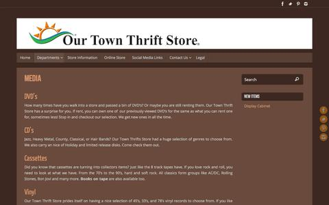 Screenshot of Press Page ourtownthriftstore.com - Media – Our Town Thrift Store - captured Feb. 16, 2016