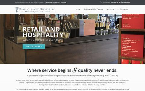 Screenshot of Home Page royalcleaningservice.com - Royal Cleaning | Janitorial cleaning maintenance service NY, office cleaning in New York City, hotel, and school cleaning service NY. - captured Feb. 24, 2016