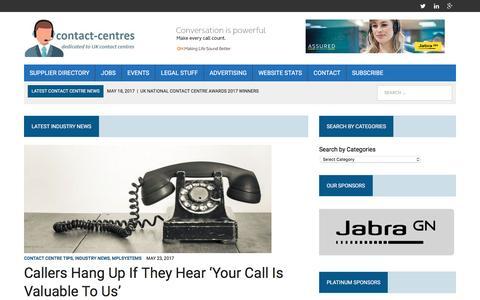 Screenshot of Home Page contact-centres.com - Home - Contact-Centres.com - captured May 24, 2017