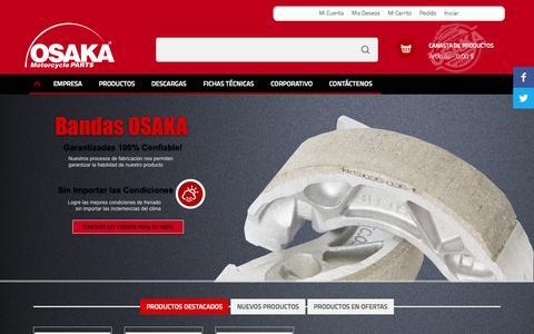 Screenshot of Home Page osaka.com.co - OSAKA - captured Aug. 16, 2015