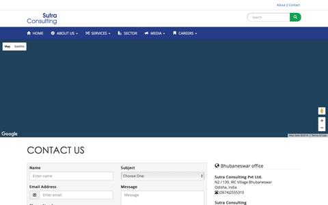 Screenshot of Privacy Page Contact Page sutraconsulting.com - Contact - Sutra Consulting - captured Dec. 14, 2016