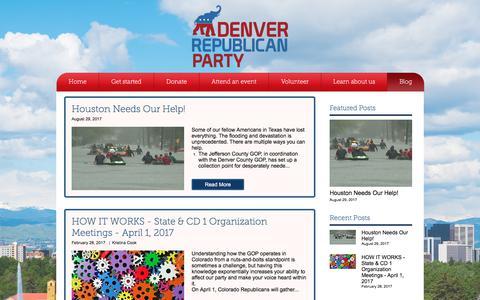 Screenshot of Blog denvergop.org - Home | Denver GOP | Blog - captured Oct. 12, 2017