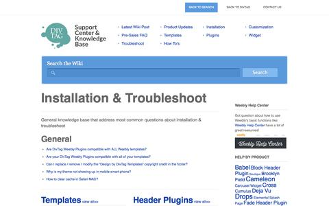 Screenshot of Home Page divtagtutorials.com - Premium Weebly Templates and Weebly Themes Knowledge Base - captured Sept. 23, 2014