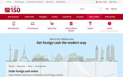 Get foreign cash | How-to | CIBC