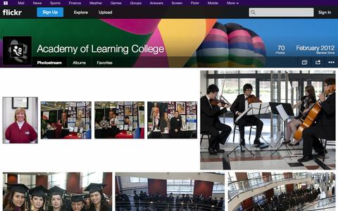 Screenshot of Flickr Page flickr.com - Flickr: Academy of Learning College's Photostream - captured Oct. 23, 2014