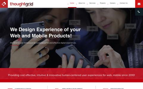 Screenshot of Home Page thoughtgridinteractive.com - UI Design and Development Company in Bangalore - captured Nov. 19, 2018