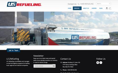 Screenshot of Services Page usrefueling.com - Propane and Diesel Refueling Delivery Service | U.S. Refueling - captured Dec. 17, 2015