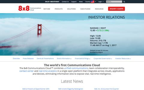 Investor Relations - 8x8, Inc.