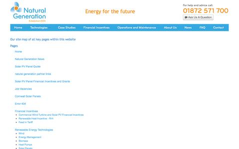 Screenshot of Site Map Page naturalgen.co.uk - Natural Generation  ::: Sitemap - captured Oct. 6, 2014