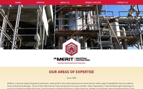 Screenshot of Services Page jrmerit.com - Services - JR Merit - captured Nov. 19, 2016