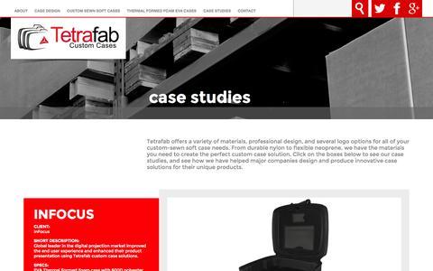 Screenshot of Case Studies Page tetrafab.com - Case Studies- Tetrafab Custom Cases - captured Nov. 5, 2014