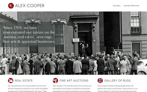 Screenshot of Home Page alexcooper.com - Alex Cooper Auctioneers, Inc. - captured Feb. 5, 2016