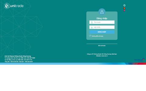 Screenshot of Login Page cts.vn - UniTrade - captured Sept. 22, 2018