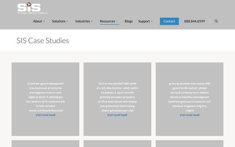 Screenshot of Case Studies Page sisn.com - Case Studies   Strategic Industry Solutions, Inc - captured Jan. 22, 2020