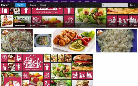 Screenshot of Flickr Page flickr.com - Flickr: recipesfab's Photostream - captured Oct. 26, 2014
