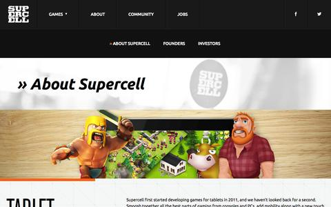 Screenshot of About Page supercell.net - Supercell - captured Sept. 17, 2014