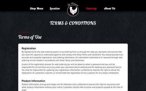 Screenshot of Terms Page larotisserie.com.hk - Terms & Conditions ‹ - captured May 11, 2017