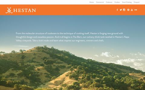 Screenshot of Home Page hestan.com - Hestan | Culinary Innovations Born in the Napa Valley - captured Jan. 25, 2017