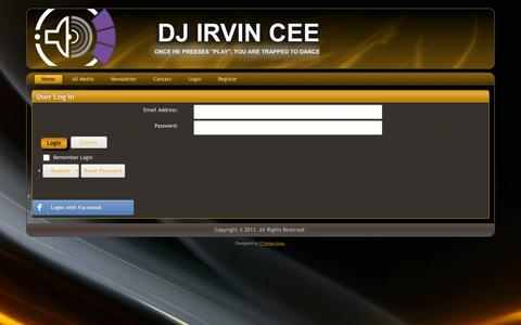 Screenshot of Login Page irvincee.com - User Log In - captured Nov. 3, 2014