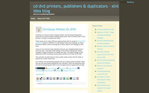 Screenshot of Blog xlntidea.com - CD DVD Printers,DVD Publishers & CD Duplicators - captured Oct. 4, 2014