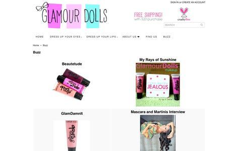 Screenshot of Press Page glamourdollsmakeup.com - Buzz - captured Oct. 28, 2014