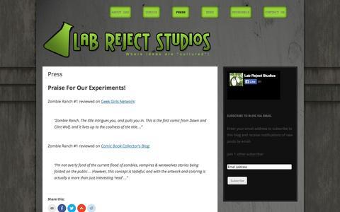 Screenshot of Press Page labreject.com - Press | Lab Reject - captured Oct. 1, 2014