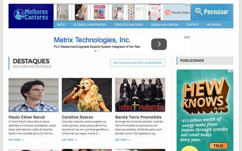 Screenshot of Home Page melhorescantores.com.br - Melhores Cantores | Os melhores cantores, bandas e duplas estão aqui - captured Sept. 6, 2015