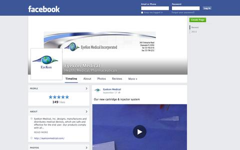 Screenshot of Facebook Page facebook.com - Eyekon Medical - Clearwater, Florida - Health/Medical/Pharmaceuticals | Facebook - captured Oct. 23, 2014