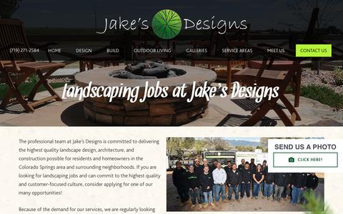 Screenshot of Jobs Page jakesdesigns.com - Careers - captured Sept. 20, 2018