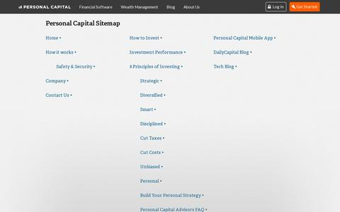Screenshot of Site Map Page personalcapital.com - Personal Capital - sitemap - captured July 19, 2014