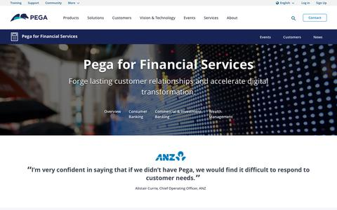 Financial Services Solutions to Address Big Challenges | Pega