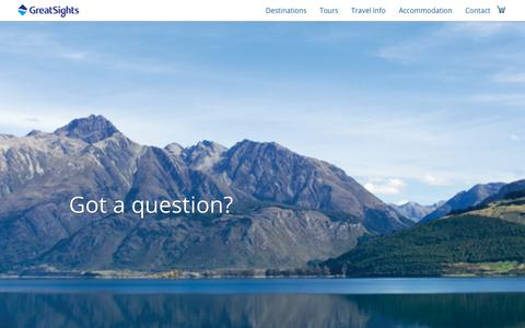 Screenshot of FAQ Page greatsights.co.nz - FAQs about New Zealand Tours | GreatSights New Zealand - captured March 9, 2018
