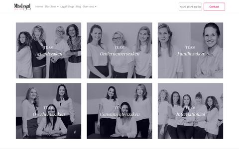 Screenshot of Team Page miss-legal.nl - Team - captured Nov. 29, 2016
