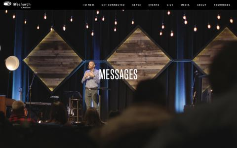 Screenshot of Press Page lifechurchcanton.org - LifeChurch Canton - Home - captured July 25, 2018